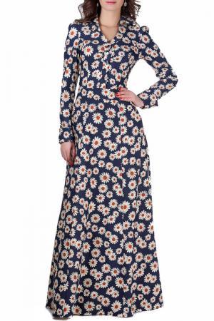 Платье Olivegrey. Цвет: рыжие ромашки