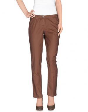 Повседневные брюки SIVIGLIA. Цвет: какао
