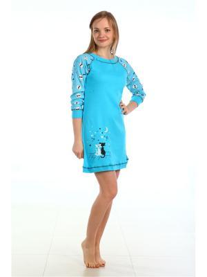 Ночная сорочка Pastilla. Цвет: черный, голубой