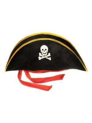 Карнавальная шляпа Принцесса пиратка ФЕСТА. Цвет: черный, красный