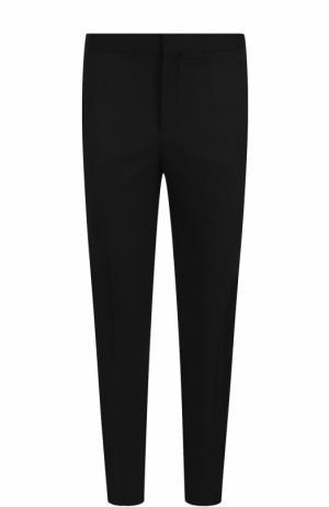 Шерстяные брюки прямого кроя с лампасами Neil Barrett. Цвет: черный