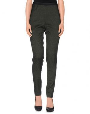 Повседневные брюки LABORATORIO. Цвет: темно-зеленый