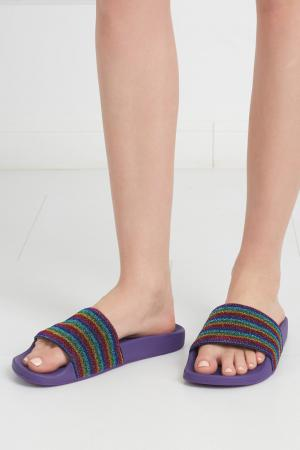 Сандалии Marc Jacobs. Цвет: пурпурный, зеленый, красный