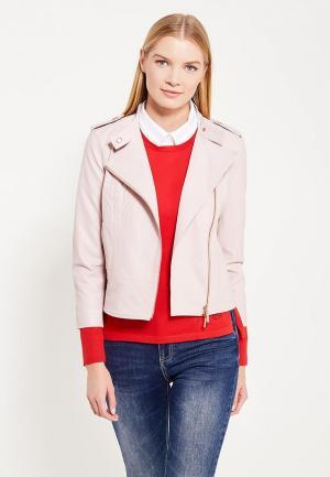 Куртка кожаная Armani Exchange. Цвет: розовый
