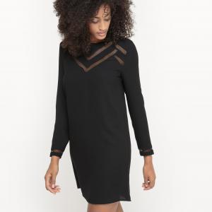 Платье с геометрическими вырезами. SUD EXPRESS. Цвет: черный