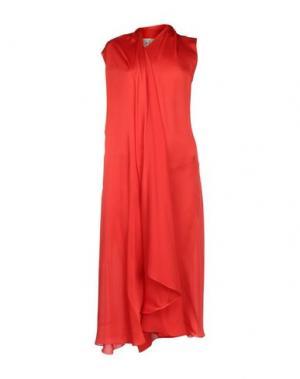 Платье длиной 3/4 SYBILLA. Цвет: красный