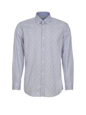 Рубашка Pre End (Дания) 31-100225. Цвет: серо-голубой