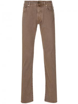 Классические брюки Comfort Jacob Cohen. Цвет: коричневый