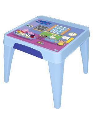 Детский стол Я расту  Свинка Пеппа Little Angel. Цвет: голубой