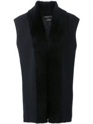 Пиджак без рукавов Lafayette 148. Цвет: синий