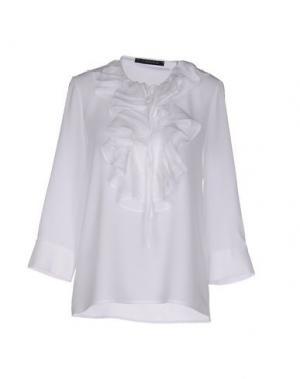 Блузка TENAX. Цвет: белый