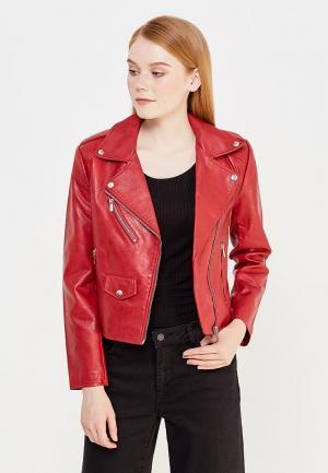 Куртка кожаная Jennyfer. Цвет: бордовый