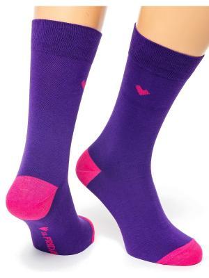 Дизайнерские Носки St.Friday Socks. Цвет: темно-фиолетовый