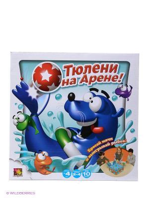 Тюлени на арене ASMODEE. Цвет: голубой, белый