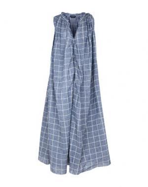 Длинное платье BALLANTYNE. Цвет: синий