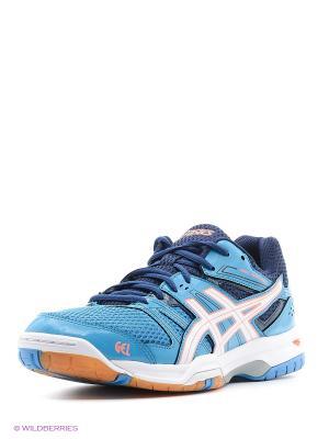Спортивная обувь GEL-ROCKET 7 ASICS. Цвет: синий, белый, коралловый