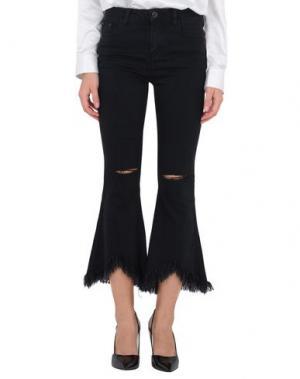 Джинсовые брюки JOVONNA. Цвет: черный