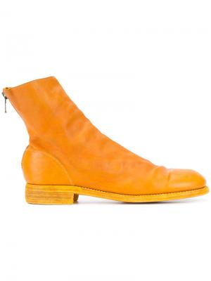 Ботильоны Guidi. Цвет: жёлтый и оранжевый