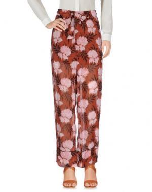 Повседневные брюки GANNI. Цвет: коричневый