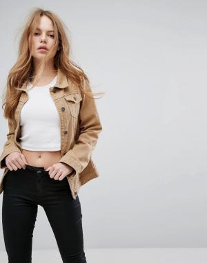 Liquor N Poker Светло-коричневая джинсовая куртка герлфренд. Цвет: рыжий