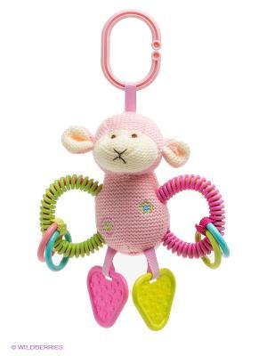 Развивающая игрушка Овечка Жирафики. Цвет: розовый, салатовый