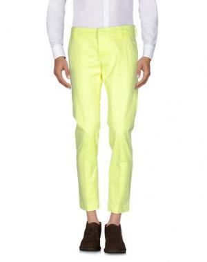 Повседневные брюки ENTRE AMIS. Цвет: желтый