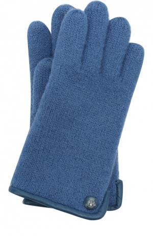 Вязаные перчатки из шерсти Roeckl. Цвет: синий