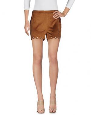 Повседневные шорты KORALLINE. Цвет: коричневый