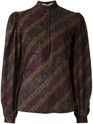 Блузка с цветочным узором Jean Louis Scherrer Vintage. Цвет: зелёный
