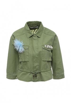 Куртка Only. Цвет: зеленый