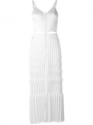 Плиссированное платье Barbara Casasola. Цвет: белый
