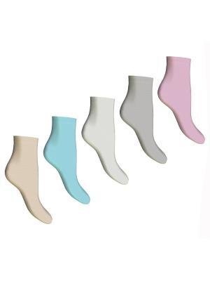 Носки, 5 пар Master Socks. Цвет: бежевый, белый, бирюзовый, светло-серый, сиреневый