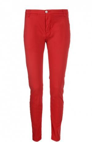 Слаксы из эластичного хлопка 2 Men Jeans. Цвет: красный