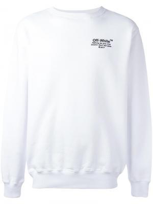 Толстовка с вышивкой логотипа Off-White. Цвет: белый