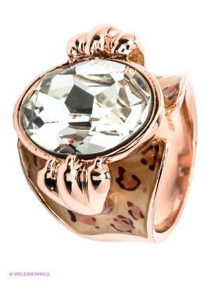 Кольцо Bijoux Land. Цвет: кремовый, прозрачный, золотистый