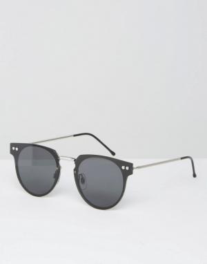 Spitfire Черные круглые солнцезащитные очки Cyber. Цвет: черный