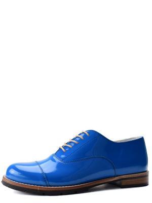 Туфли BERG. Цвет: голубой