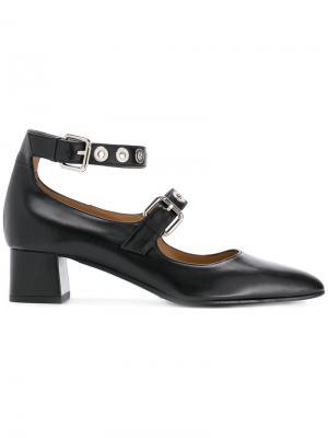 Туфли-лодочки с заклепками Fratelli Rossetti. Цвет: чёрный