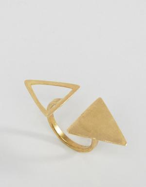 Made Кольцо с треугольниками Daisy Knights. Цвет: золотой