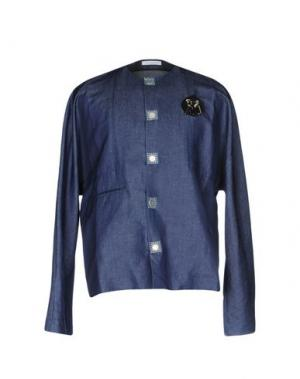 Джинсовая рубашка J.W.ANDERSON. Цвет: синий