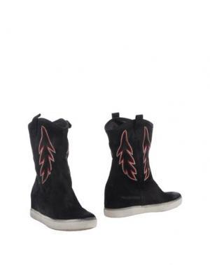 Полусапоги и высокие ботинки PAUSE. Цвет: черный