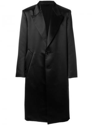Пальто с заостренными лацканами Raf Simons. Цвет: чёрный