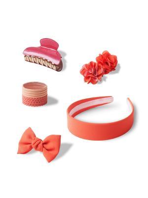 Комплект аксессуаров для волос  SWEET CORAL ESLI. Цвет: коралловый