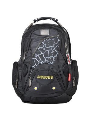 Рюкзак Across. Цвет: черный, горчичный, серый