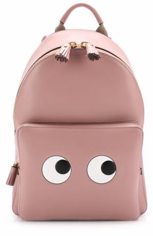Рюкзак Eyes Anya Hindmarch. Цвет: светло-розовый