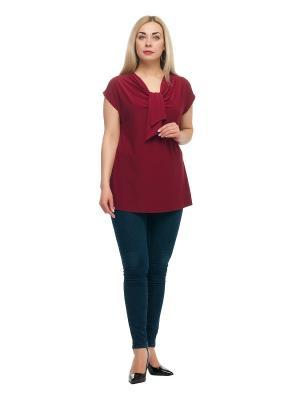 Блузка OLSI. Цвет: бордовый