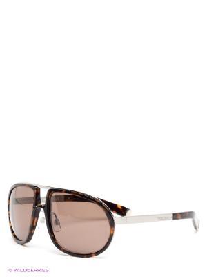 Солнцезащитные очки Dsquared. Цвет: коричневый, серебристый