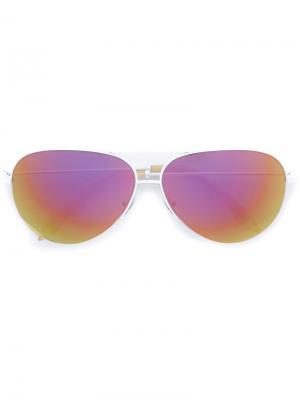 Солнцезащитные очки Classic Victoria Beckham. Цвет: белый