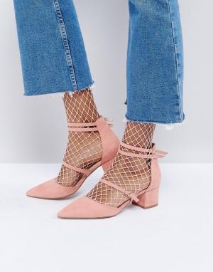 Office Туфли на каблуке с заостренным носком Mae. Цвет: розовый
