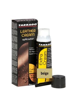Крем тюбик с губкой Leather cream, БОЛЬШОЙ, 75мл. (beige) Tarrago. Цвет: бежевый